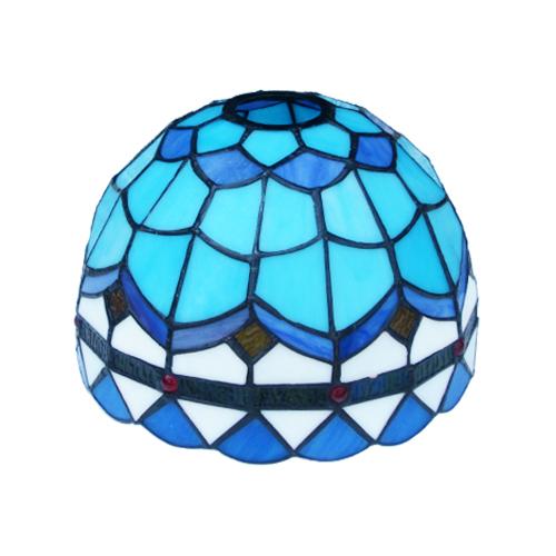 照明 ランプ ステンドグラス おしゃれ ブルー INK-1004005H