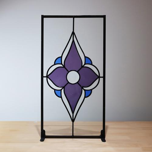ステンドグラス(アンティーク風・装飾ガラス・シンプル・雑貨・お洒落) INK-1103004H