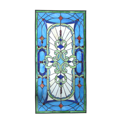 【SEAL限定商品】 ステンドグラス 雑貨 アンティーク風 装飾ガラス 雑貨 おしゃれ W425×H885×T10 青系 青系 W425×H885×T10 INK-1103011H, 飲食店消耗品販促品のカミナガ:beac362c --- canoncity.azurewebsites.net
