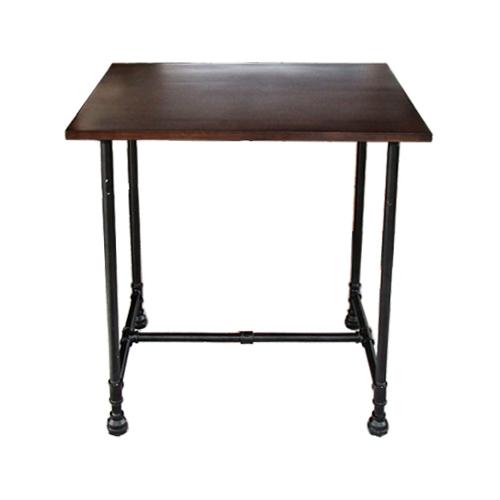 ガス管ダイニングテーブル(スチームパンク・水道管・家具・机) W750×D590×H800 INK-1401250H