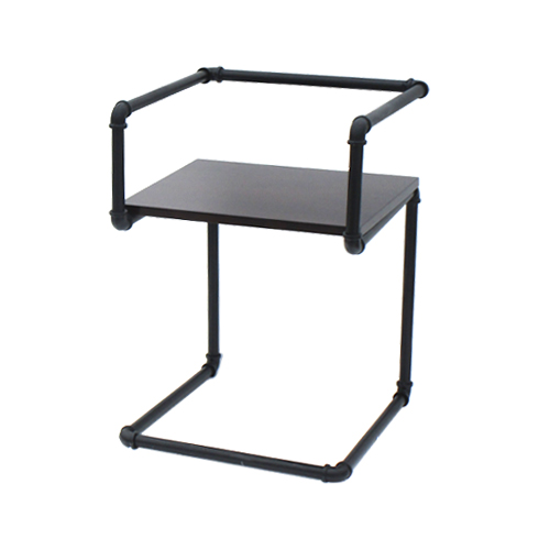ひじ掛け付きガス管ダイニングチェア(スチームパンク・水道管・家具・椅子) W515×D500×H710 INK-1401264H