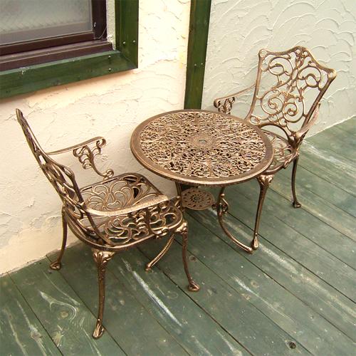 ロートアイアン(アイアン飾り・イス2脚とテーブル1台セット、プロヴァンス風) chtablset001