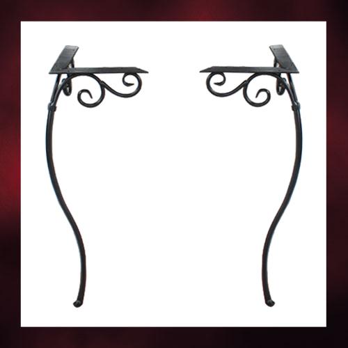 洗面化粧台 足 脚 アイアン パーツ 2本セット H700 | 品番INK-1401273H