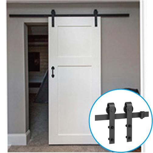 トラックレール 室内ドア用 バーンドア 片引き戸 吊具 アイアン 1830mm | INK-1401340H