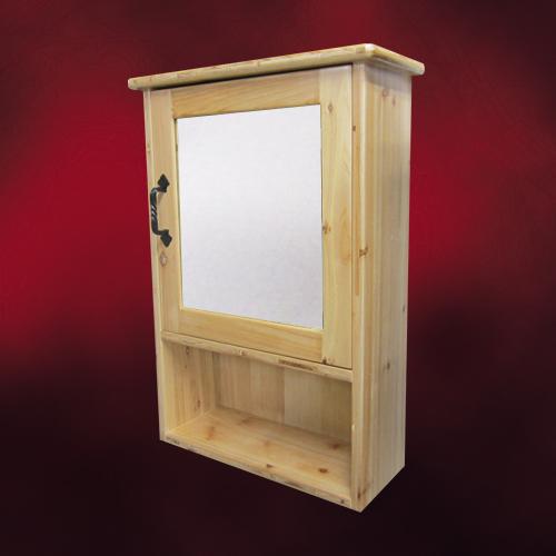 木製ミラーキャビネット(鏡・洗面化粧台棚・収納・鏡扉・カントリー調・ウッド)ナチュラル INK-0702005H