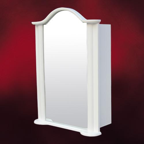 ミラーキャビネット(左開口) (洗面所・水まわり・鏡・収納・インテリア・おしゃれ・PVC) 白・ホワイト INK-0702010H  W520×D225×H725
