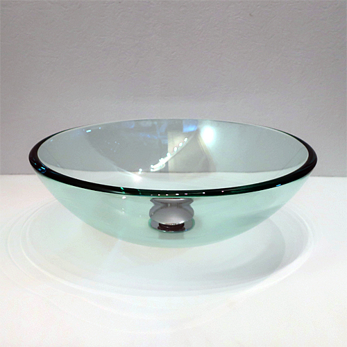 幅広く利用できるガラス洗面ボウルです お金を節約 新品未使用 洗面ボウル ガラス洗面ボール ガラスシンク 洗面台 手洗い鉢 380mm-cr