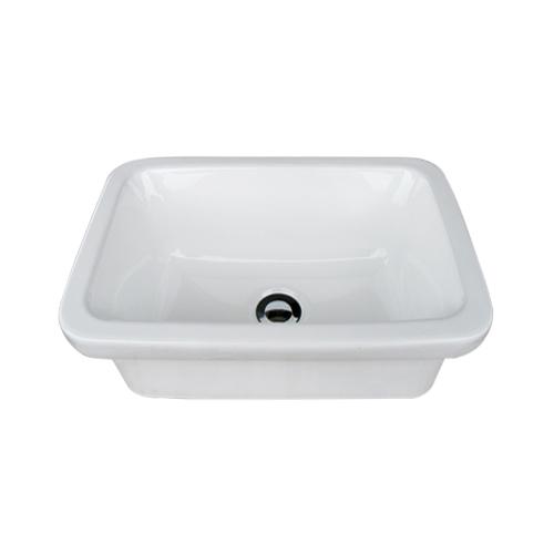 洗面ボウル 陶器 四角 置き・埋め込み両用 オーバーフロー無し W450×D310×H165   品番INK-0402046H