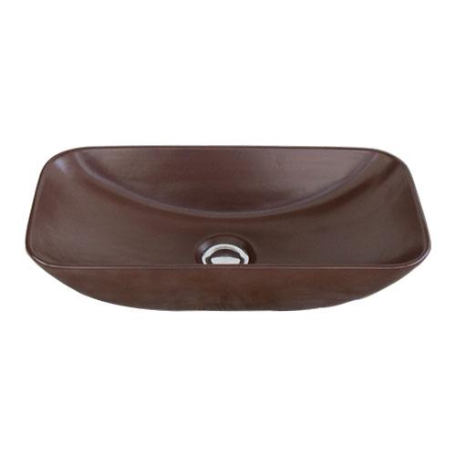 洗面ボウル 陶器 小さい 置き型(オンカウンターシンク) 茶色 ブラウン オーバーフロー無し W460×D230×H120 | 品番INK-0403341H