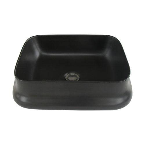 洗面ボウル 陶器 置き型(オンカウンターシンク) 黒 ブラック オーバーフロー無し W460×D360×H140   品番INK-0403365H