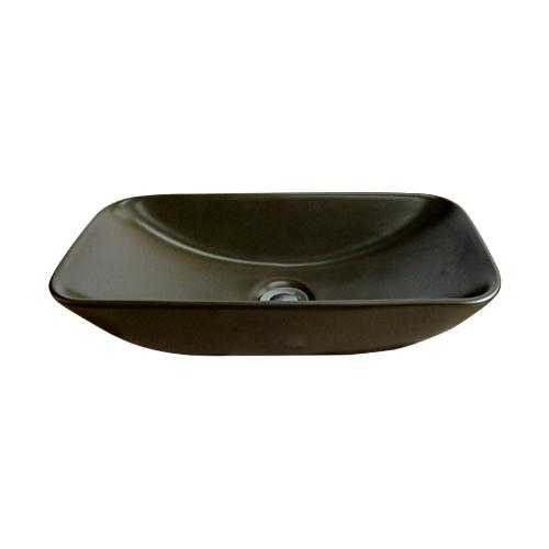 洗面ボウル 陶器 おしゃれ 置き型 ダークブラウン オーバーフロー無し W475×D230×H105 | 品番INK-TT310H