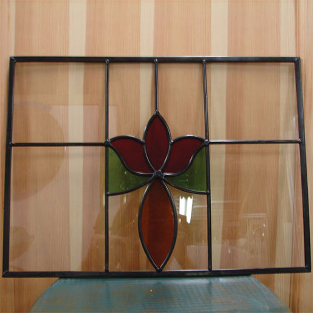ステンドグラス(アンティーク風・装飾ガラス・シンプル・小さい) INK-Sglass3
