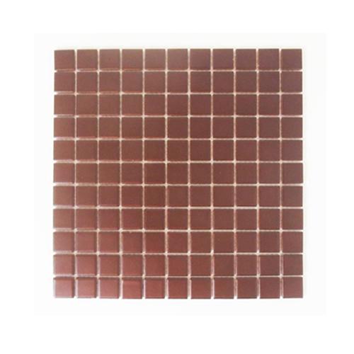 モザイクタイル DIY 陶器 25角 裏ネット張り 茶色 ブラウン 11枚セット(約1m2)   品番INK-YD2513
