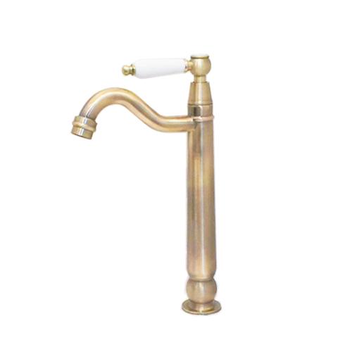 単水栓 蛇口 カラン 陶器取っ手 古金 W55×D180×H295 | 品番INK-0302080HT, 潮来市 f5c2684c