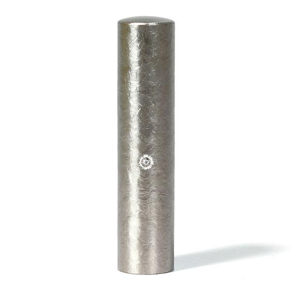 個人印鑑・認印・ジュエリーチタン・シルバー粒界チタン(スワロフスキーアタリ色選択可)・印面直径約13.5mm×長さ約60mm・ケース別売り