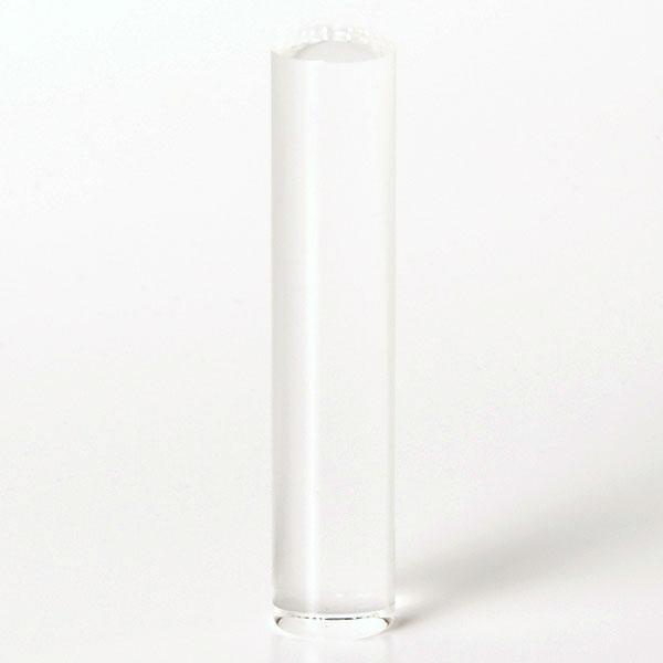 個人印鑑・銀行印・クリスタル/水晶(アタリ無し)・印面直径約12mm×長さ約60mm・ケース別売り