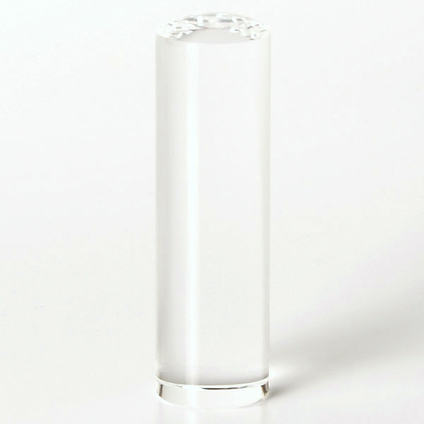 個人印鑑・銀行印・クリスタル/水晶(アタリ無し)・印面直径約18mm×長さ約60mm・ケース別売り