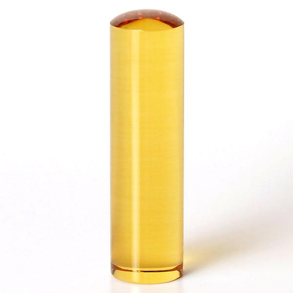 個人印鑑・銀行印・シトリントパーズ/黄水晶(アタリ無し)・印面直径約16.5mm×長さ約60mm・ケース別売り