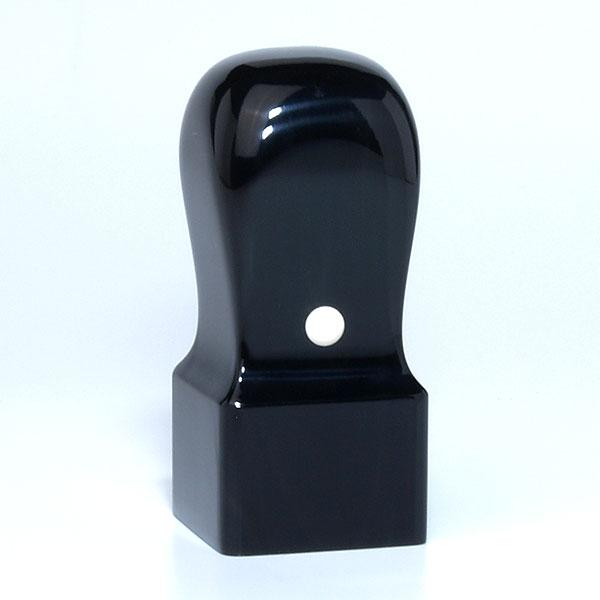 落款印(雅印・雅号印)[職人彫り]黒水牛特上・角天丸・印面約27x27mm・長さ約60mm・ケース別売り