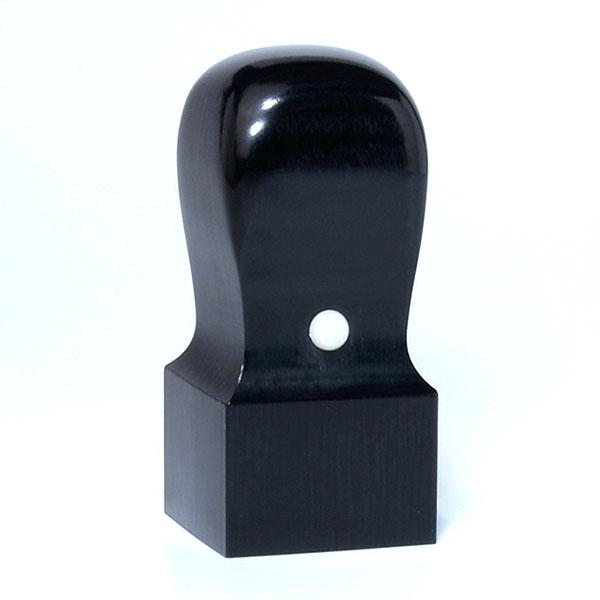 先生印(資格印・職印・士業印)角印[手彫り仕上げ]・黒彩樺・角天丸・印面約27x27mm・長さ約60mm・ケース別売り