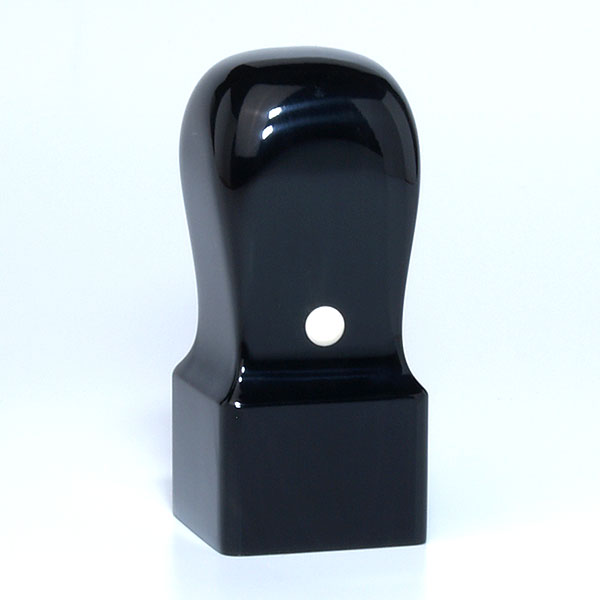 先生印(資格印・職印・士業印)角印[職人彫り]・黒水牛特上・角天丸・印面約27x27mm・長さ約60mm・ケース別売り