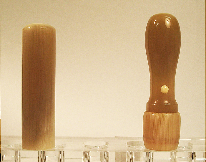 個人用 手彫り印鑑 法人印鑑セットB オランダ水牛(特選材) 実印18mm×銀行印16.5mm