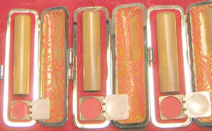 個人印鑑3本セット 白檀 実印13.5mm+銀行印12mm+認印10.5mm