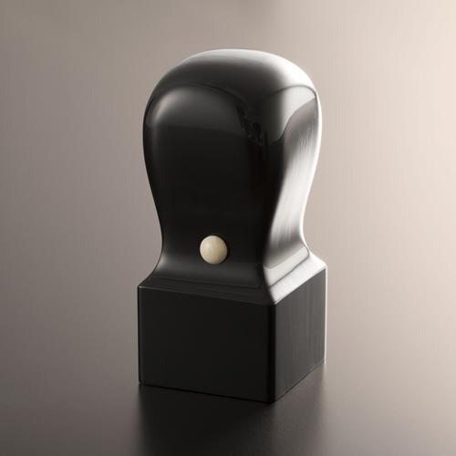 先生印/資格印/職印/角印 黒水牛芯持/角天丸/27mm/ケース別売