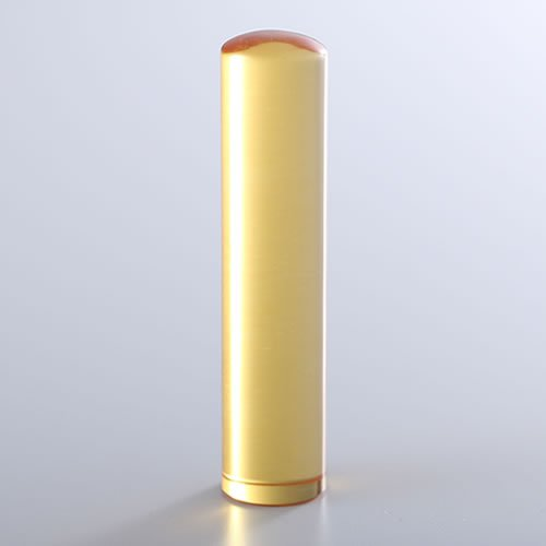 黄水晶(シトリントパーズ)の実印/13.5mm/ケース別売