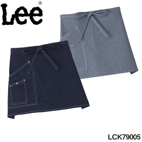 老舗ブランド お気に入 Lee 100%品質保証 のオススメ商品取り扱い開始 デニムショートエプロン リー デニム地 フリーサイズ デニム 02P03Dec16 ヒッコリー カード分割 可能 ブルー BONMAX 領収書 発行