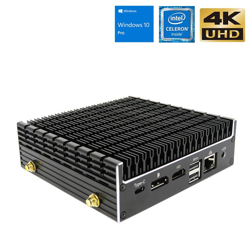 【保証1年】パソコン 新品 ミニパソコン 静音 【Skynew K4】 小型パソコン 新品 ファンレス Intel Celeron 4205U/8GB/128GB/DPポート HDMI 4K対応 デスクトップパソコン 送料無料 在宅勤務 テレワーク