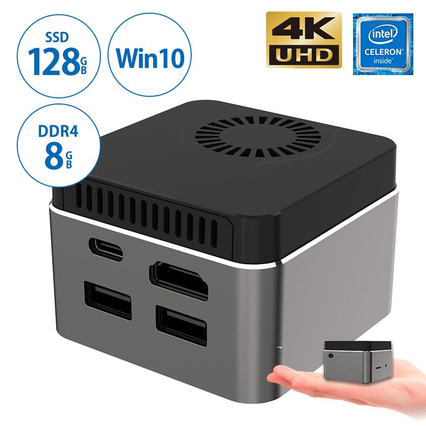 【1000円クーポン使える&ポイント2倍SALE!】【保証1年】スティック型パソコン 【M1T】ミニパソコン 超小型pc 4K対応 インテル Celeron N4100/8GB DDR4/128GB SSD/ Win10 64Bit パソコン 新品 デスクトップパソコン 小型 送料無料 在宅勤務 テレワーク パソコン