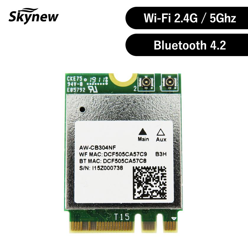 wifiモジュール ディスカウント ネットワークアダプターカードWifi Module ネットワーク インターフェース カードWiFiカード skynew M.2 WIFIモジュール 4.2対応 WiFiカード 2.4G ワイヤレスカード Bluetooth ネットワークカード 5Ghz+ WIFI ※アウトレット品