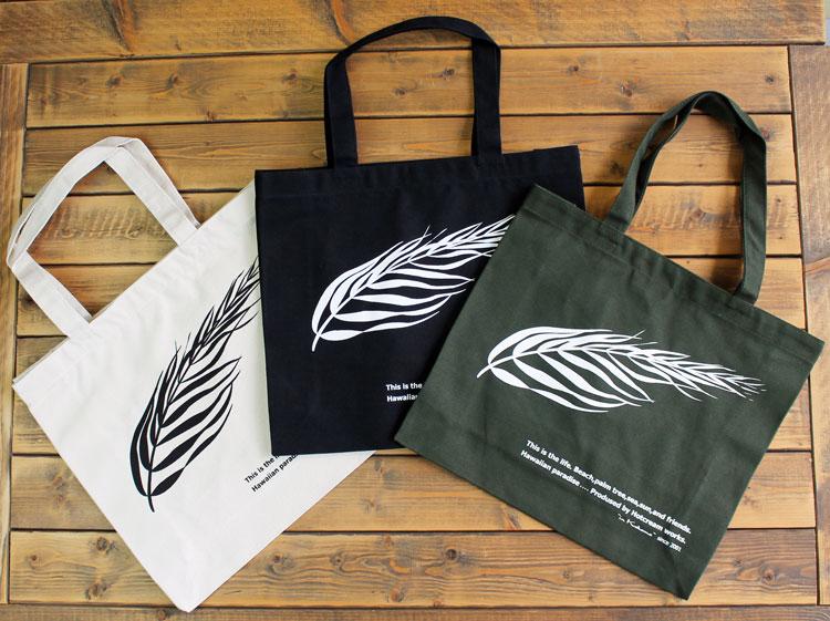 Palm canvas tote bag flutter