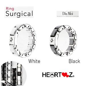 ハーツリング 指輪 ディモア サージカルリング 天然ダイヤモンド使用 SS316L ステンレス セラニック Dis Moi ハーツ加工 ヒット加工 テラヘルツ加工 HEARTZ カラー 選択可能 男性 女性 健康ジュエリー