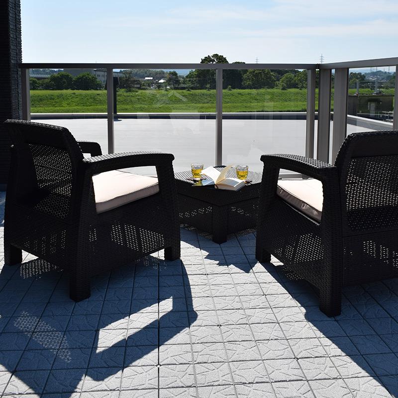 科孚岛阳台设置 / COF 阳台套/暗棕色 [在科特] [拉丁风格家具] [户外家具,[阳台] [花园] [外部] 花园把椅子套 [家具] [户外装备]