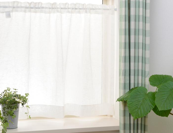 大きなサイズはお部屋の間仕切りに 小さなサイズは棚の目隠しに OUL1290 小窓カーテン 付属のタッセルで片側へ束ねて使用できる竿通し小窓カーテン 幅28-80cmx丈30-120cm 1枚 毎日がバーゲンセール フレンチカントリー アジアン 目隠し 採光 ナチュラル <セール&特集> 間仕切り 和風 北欧風 フレンチ
