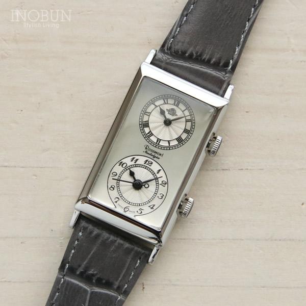 ロゼモン 腕時計 Nostalgia Rosemont デュアルタイムモデル N010-SW EGY シルバー/グレー(ベルト)