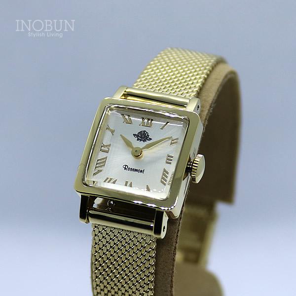 ロゼモン 腕時計 Rosemont Collection RS#56-01 YW MT オフホワイト/アンティークゴールド(メッシュバンド)