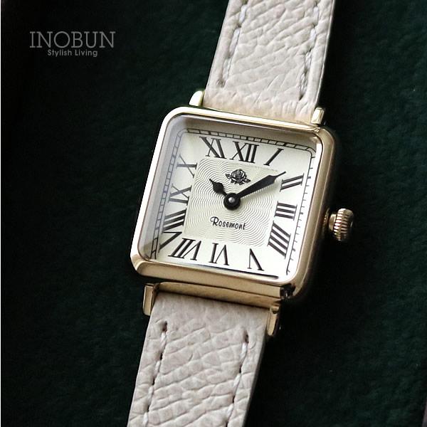 ロゼモン 腕時計 Nostalgia S Rosemont NS013-YWR GWH アンティークゴールド/ホワイト(ベルト)