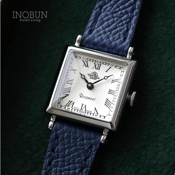 ロゼモン 腕時計 NostalgiaS Rosemont NS011-SWR GNV シルバー/ネイビー(ベルト)