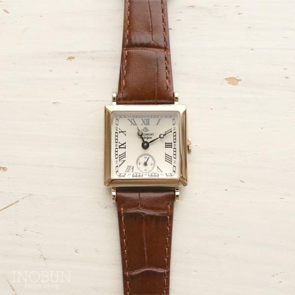 ロゼモン 腕時計 Nostalgia Rosemont N011-YWR EBR アンティークゴールド/ブラウン(ベルト)