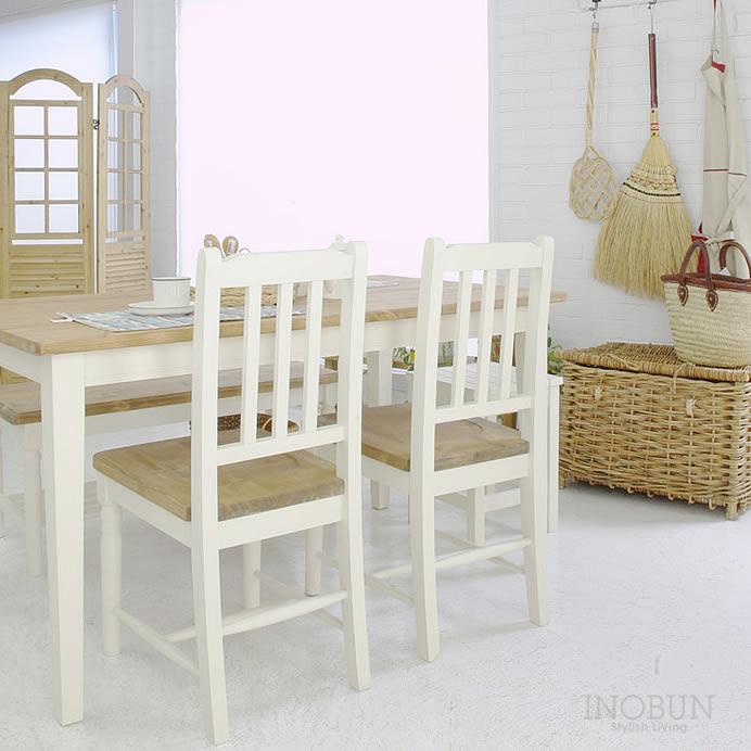 mam (マム) cresson dining table (クレソンダイニングテーブル) 135 x 75 x 70cm ホワイト/ナチュラル