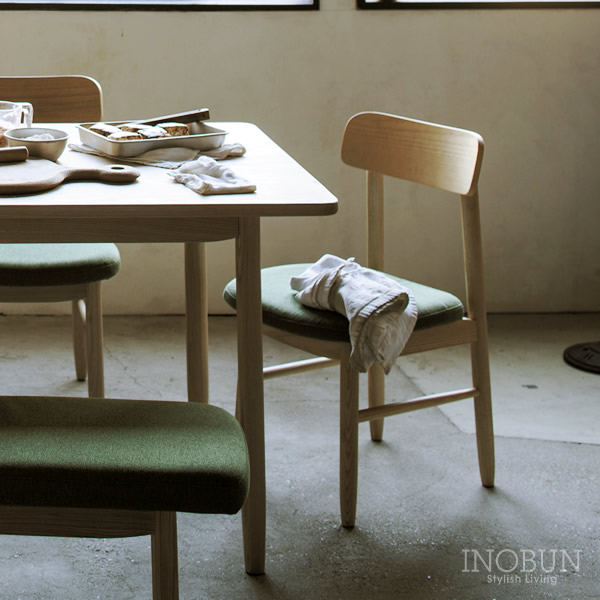 SIEVE(シーヴ) saucer dining chair ダイニング チェア W420 x D480 x H760mm ナチュラル/グリーン