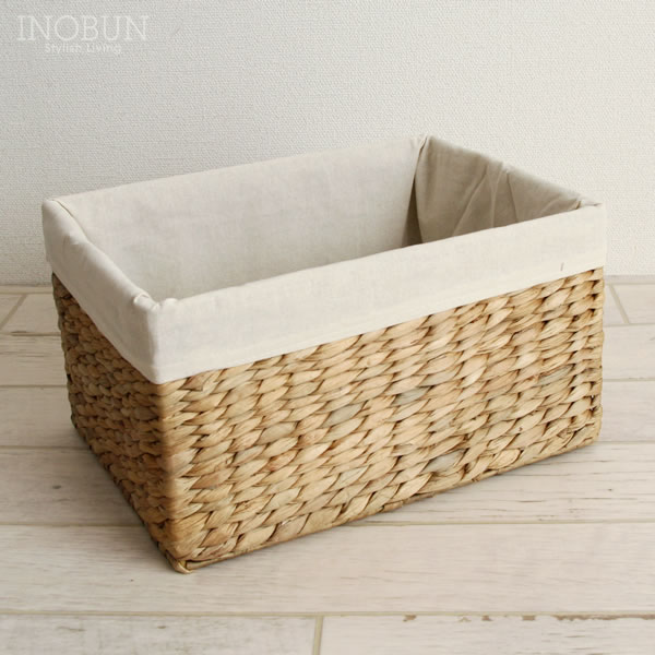 Water hyacinth storage basket color box for full size natural & inobun | Rakuten Global Market: Water hyacinth storage basket color ...