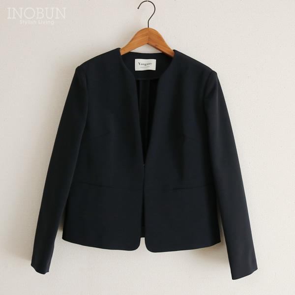 ヤンガニー Yangany ノーカラージャケット 38(M) ネイビー 日本製 入園入学式 スーツ