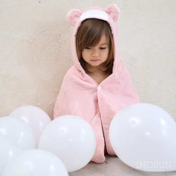 可愛いなりきりクマさんバスタオル☆ ソフ 公式サイト SOF フード付きバスタオル 商い kontex ママズ ライトピンク セレクト コンテックス