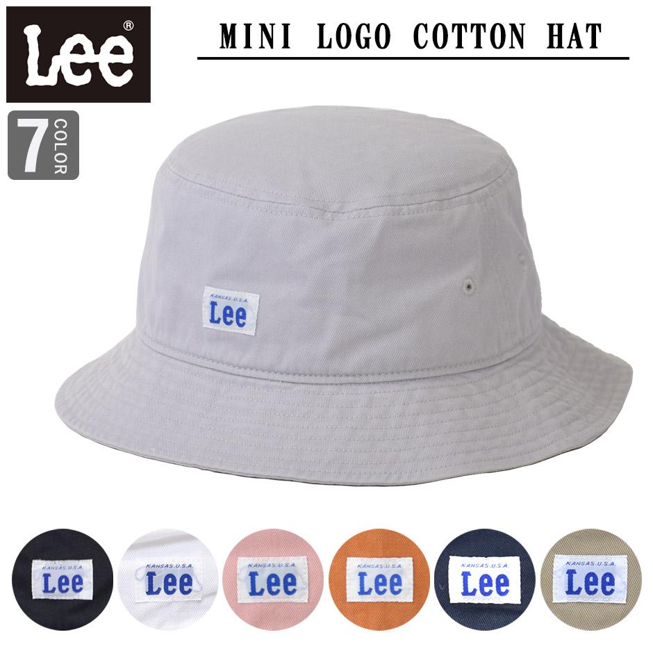 ネコポスで送料無料 LEE リー ハット バケットハット コットン ハット 帽子 キャップ 紫外線対策 日焼 hat アウトドア スポーツ