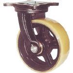 【ヨドノ】鋳物重量用キャスター MUHA-MG300X75【TN】【TC】【鋳物製金具キャスター(ゴム車・ウレタン車)/重荷重用キャスター/キャスター/ヨドノ】