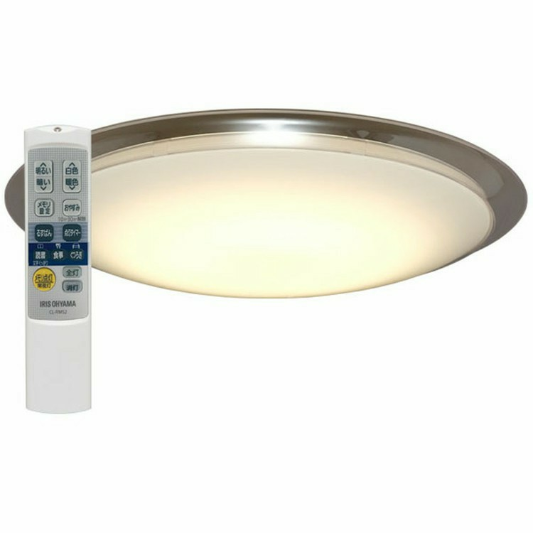 スマートスピーカー 照明 シーリングライト 8畳 google home mini GA00210-JP チョーク+LEDシーリングライト送料無料 調光 調色 LED スピーカー LED照明 天井照明 シーリング おしゃれ 明るい リモコン付 子供部屋 寝室 リビング Amazon Echo アイリスオーヤマ